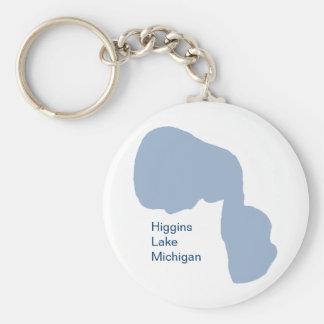 Lago Higgins, Michigan Llavero Redondo Tipo Pin