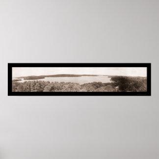 Lago Hopatcong, foto 1909 de NJ Poster