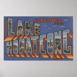 Lago Hopatcong, New Jersey - escenas grandes de la Impresiones