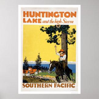 Lago huntington y las sierras póster