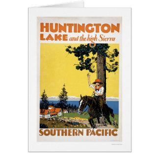 Lago huntington y las sierras tarjeta de felicitación