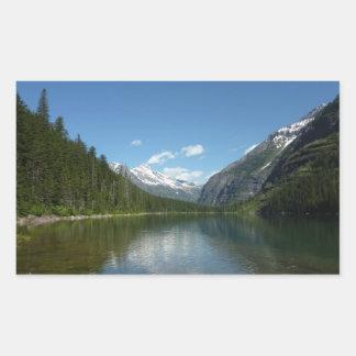 Lago I avalanche en Parque Nacional Glacier Pegatina Rectangular