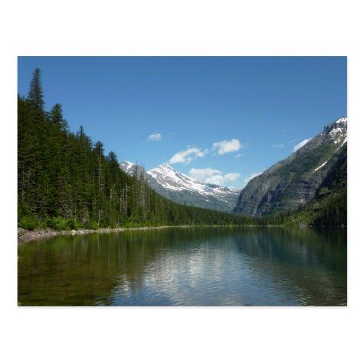 Lago I avalanche en Parque Nacional Glacier Tarjetas Postales