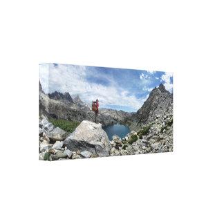 Lago iceberg - desierto de Ansel Adams - Sierra Impresión En Lienzo