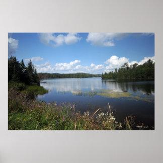 Lago indio en el Adirondacks. impresión 08 122 Poster