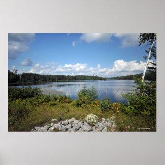 Lago indio en el Adirondacks. impresión 08 129 Poster