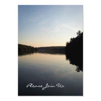 Lago invitations del boda en la puesta del sol invitación 12,7 x 17,8 cm