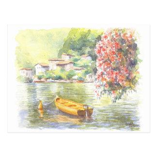 Lago italiano postcard- de la bella arte, watercol postales