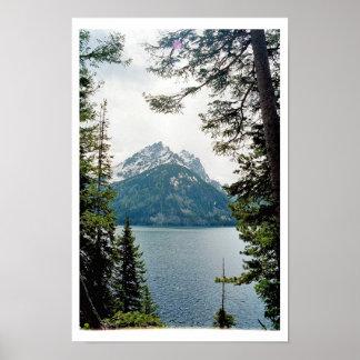 Lago jenny parque nacional magnífico de Teton Impresiones