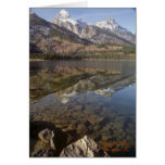 Lago jenny, parque nacional magnífico de Teton Tarjetón