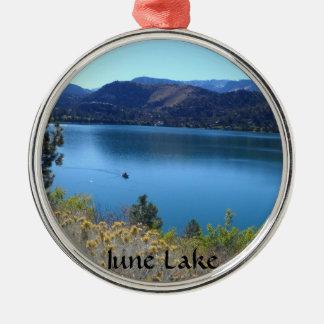 Lago june, California Adorno Redondo Plateado