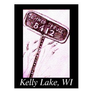 Lago kelly - ciudad de la picea tarjeta postal