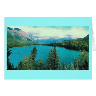Lago Kenai, aterrizaje del tonelero, Alaska Tarjeta Pequeña