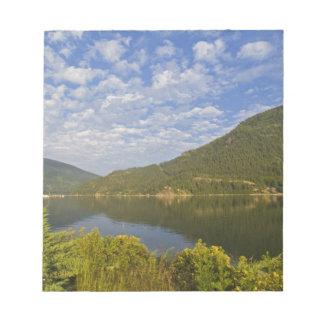 Lago Kootenay en la Columbia Británica de Nelson Blocs De Papel