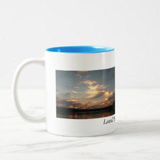 Lago laurel, Lenox, mA Taza De Café De Dos Colores
