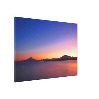lago llanquihue sunrise canvas print