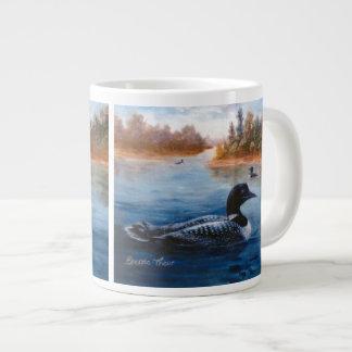 Lago loon taza extra grande