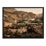 Lago Loppio, Garda, lago de, vintage Photoch de It Postal
