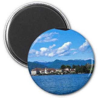 Lago Maggiore de Stresa con el teleférico Italia Imán De Frigorifico
