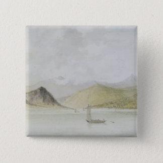 Lago Maggiore (w/c, pen, ink and graphite on paper Button