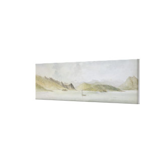Lago Maggiore (w/c, pen, ink and graphite on paper Canvas Print
