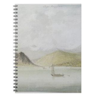 Lago Maggiore (w/c, pen, ink and graphite on paper Spiral Notebook
