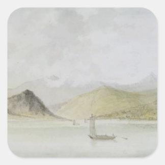 Lago Maggiore (w/c, pen, ink and graphite on paper Square Stickers