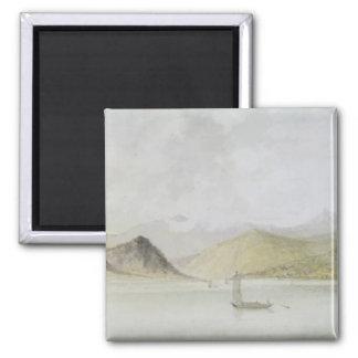 Lago Maggiore (w/c, pluma, tinta y grafito en el p Imanes Para Frigoríficos