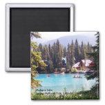 Lago Maligne/parque nacional de jaspe, Canadá Imán
