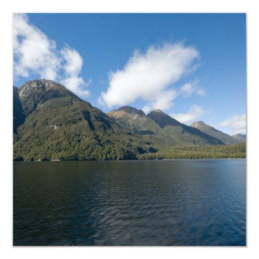 "Lago Manapouri Invitación 5.25"" X 5.25"""