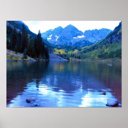 Lago marrón póster