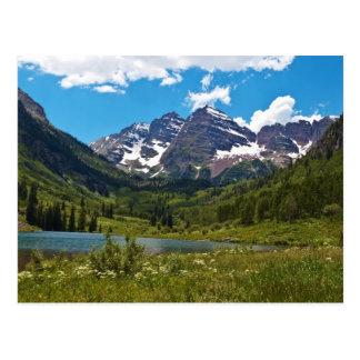 Lago marrón tarjetas postales