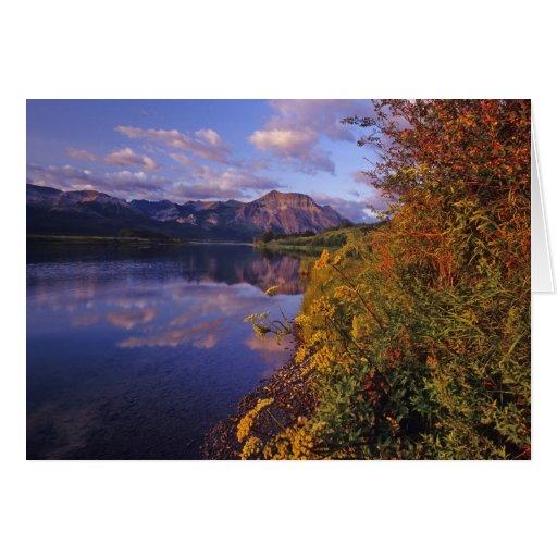 Lago Maskinonge en el parque nacional 2 de los lag Tarjeta De Felicitación