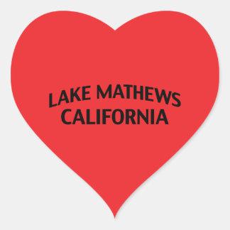 Lago Mathews California Pegatina De Corazon Personalizadas
