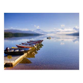 Lago McDonald, Parque Nacional Glacier, Montana, Tarjeta Postal