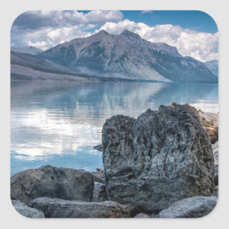 Lago McDonald Calcomania Cuadradas Personalizada