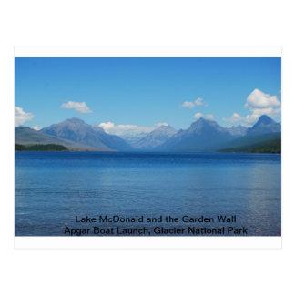 Lago McDonald/postal del lanzamiento del barco de  Tarjeta Postal