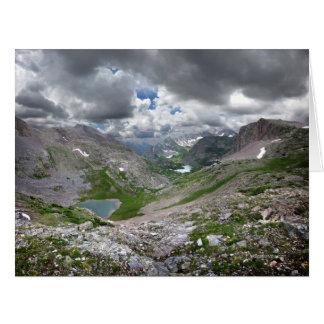 Lago media moon - desierto de Weminuche - Colorado Tarjeta De Felicitación Grande