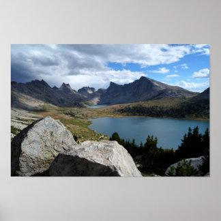 Lago medio fork y lago Lee, impresión del poster