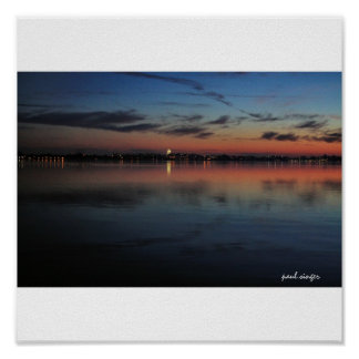 Lago Mendota finales de noviembre II sunset Poster
