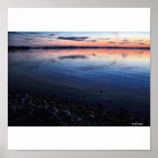 Lago Mendota sunset finales de noviembre Impresiones