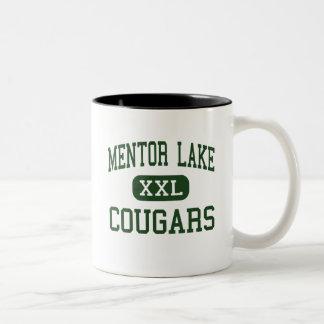 Lago mentor - pumas - católico - mentor Ohio Tazas De Café