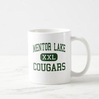 Lago mentor - pumas - católico - mentor Ohio Taza De Café