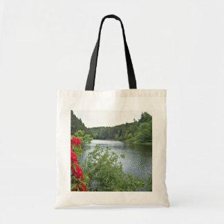 Lago Millburies, Moray, flores de Escocia Bolsas De Mano