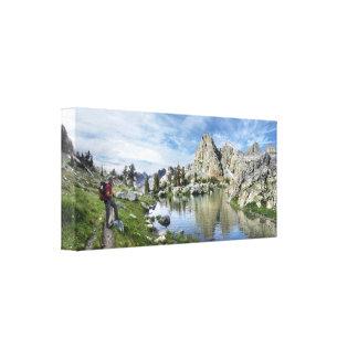 Lago minaret - desierto de Ansel Adams - Sierra Impresión En Lienzo