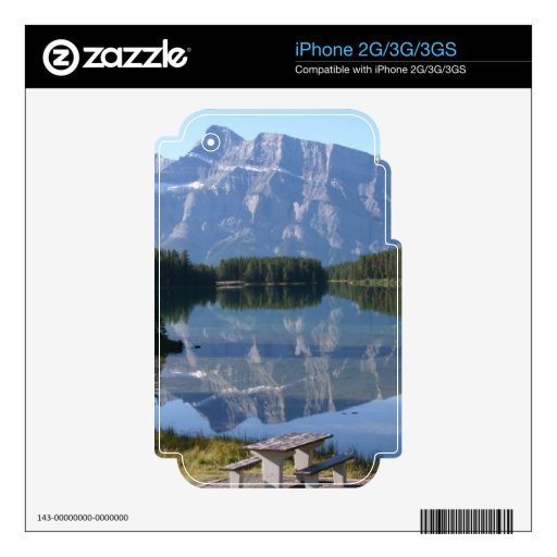 Lago Minnewanka Alberta Canadá two Jack Calcomanías Para El iPhone 3