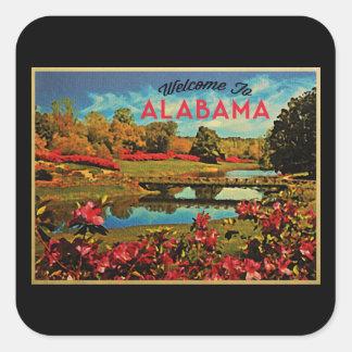 Lago mirror de Alabama Pegatinas Cuadradases