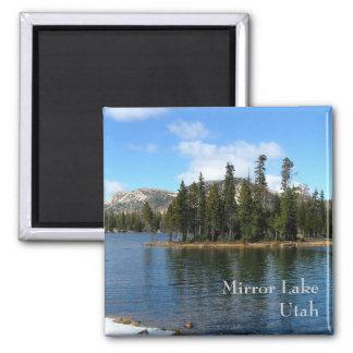 Lago mirror imán cuadrado