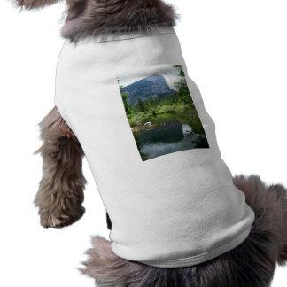 Lago mirror playera sin mangas para perro