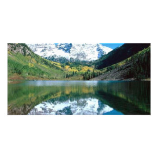 Lago mirror tarjetas fotográficas